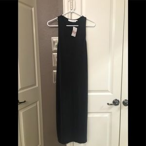 ASTR Charcoal Gray Maxi Dress - open back - size M